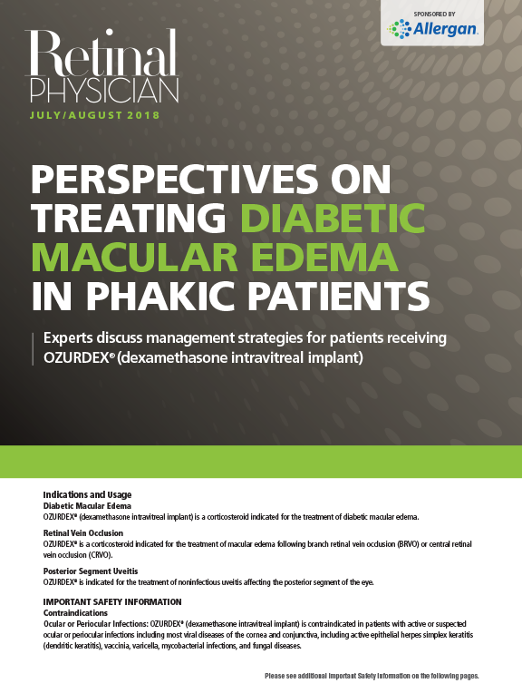Perspectives on Treating Diabetic Macular Edema in Phakic Patients